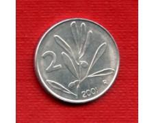 2001 - LOTTO/M21504 - REPUBBLICA - 2 LIRE OLIVO/APE