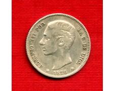 1876 - LOTTO/M21641 - SPAGNA - 1 PESETA ARGENTO
