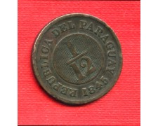 1845 - LOTTO/M21678 - PARAGUAY - 1/12 DI REAL  RAME