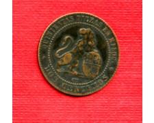 1870 - LOTTO/M21683 - SPAGNA -  2 CENTESIMI RAME