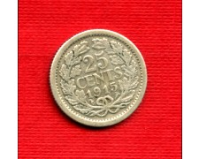 1915 - LOTTO/M21688 - OLANDA - 25 CENTESIMi ARGENTO