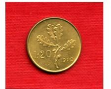 1970 - LOTTO/M21698 - REPUBBLICA - 20 LIRE  RAMO DI QUERCIA VARIETA'