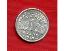 1942 - LOTTO/M21770 - FRANCIA - 1 FRANCO DOPPIA ASCIA
