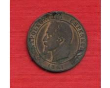 1861 K - LOTTO/M21787 - FRANCIA - 10 CENTESIMI NAPOLEONE