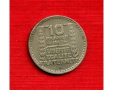 1947 B - LOTTO/M21793 - FRANCIA - 10 FRANCHI MARIANNA