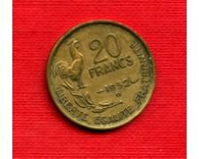 1952 B - LOTTO/M21819 - FRANCIA - 20 FRANCHI GALLETTO 4 PIUME