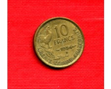 1954  B - LOTTO/M21823 - FRANCIA - 10 FRANCHI GALLETTO