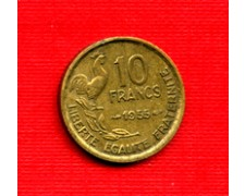 1955 - LOTTO/M21824 - FRANCIA - 10 FRANCHI GALLETTO
