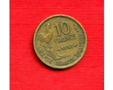 1957 - LOTTO/M21827 - FRANCIA - 10 FRANCHI GALLETTO