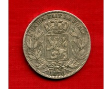 1870 - LOTTO/M22019 - BELGIO - 5 FRANCHI ARGENTO LEOPOLDO II°