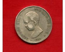 1891 - LOTTO/M22025 - SPAGNA - 5 PESETAS ARGENTO ALFONSO XIII°