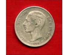 1878 EM - LOTTO/M22026 - SPAGNA - 5 PESETAS ARGENTO ALFONSO XII°
