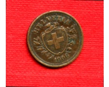 1906 - LOTTO/M225157- SVIZZERA - 1 RAPPEN BRONZO