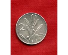 1957 - LOTTO/M22552 - REPUBBLICA - 2 LIRE APE/ULIVO