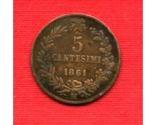 1861 M - LOTTO/M22581 - REGNO - 5 CENTESIMI  VITT. EMANUELE II°