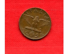 1937 - LOTTO/M22998 - REGNO - 5 cent. IMPERO