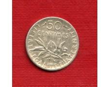 1916 - LOTTO/M23080 - FRANCIA - 50 CENTESIMI ARGENTO