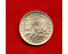 1917 - LOTTO/M23081 - FRANCIA - 50 CENTESIMI ARGENTO