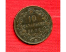 1893 - LOTTO/M23096 -  ITALIA REGNO -  10 CENTESIMI UMBERTO I° BIRMINGHAM