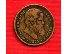 1873 - LOTTO/M23101 - BRASILE 40 REIS PETRUS II°