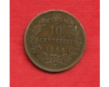 1866 - LOTTO/M23219 - REGNO - 10 CENTESIMI ZECCA DI NAPOLI