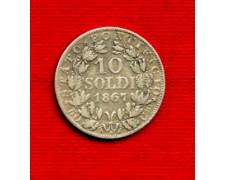 1867 - LOTTO/M23222 - STATO PONTIFICIO - 10 SOLDI ARGENTO