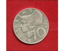 1959 - LOTTO/M23226 - AUSTRIA - 10 SCELLINI ARGENTO