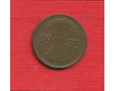 1935D - LOTTO/M23243 - GERMANIA -  1 REICHSPENNIG