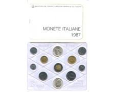 1987 - LOTTO/M23291 - ITALIA REPUBBLICA - ANNATA COMPLETA DI 11 MONETE