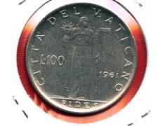 1961 - LOTTO/M23922 - VATICANO - 100 LIRE GIOVANNI XXIII°