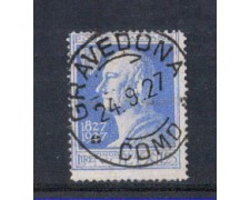 1927 - LOTTO/REG213U1 - REGNO - 1,25 LIRE A. VOLTA - USATO GRAVEDONA