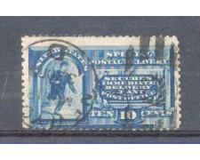 1888 - LBF/2967 - STATI UNITI - ESPRESSO 10c. AZZURRO - USATO