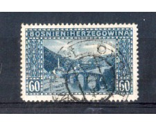 1912 - LOTTO/3841 - AUSTRIA - BOSNIA ERZEGOVINA 60h. VEDUTE USATO