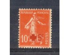 1914 - LOTTO/FRA146L - FRANCIA - +5 SU 10c. PRO CROCE ROSSA - LING.