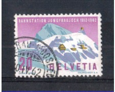 1962 - LOTTO/SVI691U - SVIZZERA - 20c. FUNIVIA JUNGFRAU - USATO