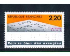 1989 - LOTTO/FRA2556N - FRANCIA -  2,20 Fr. NON VEDENTI - NUOVO