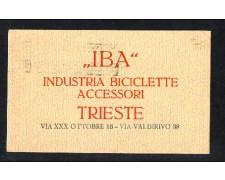 TRIESTE - 1925 - LOTTO/10809 - IBA INDUSTRIA BICICLETTE