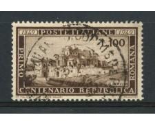 1949 - REPUBBLICA - 100 LIRE REPUBBLICA ROMANA - USATO - LOTTO/30273