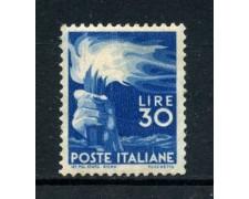1945 - REPUBBLICA - 30 LIRE DEMOCRATICA - NUOVO - LOTTO/30338