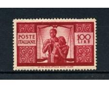 1945 - REPUBBLICA - 100 LIRE DEMOCRATICA - NUOVO - LOTTO/30339