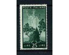 1945 - REPUBBLICA - 25 LIRE DEMOCRATICA - NUOVO - LOTTO/30340