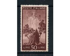 1945 - REPUBBLICA - 50 LIRE DEMOCRATICA - NUOVO - LOTTO/30341