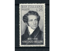 1952 - REPUBBLICA - VINCENZO BELLINI - NUOVO - LOTTO/30332