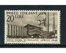 1949 - REPUBBLICA - 27° FIERA DI MILANO - NUOVO - LOTTO/30350