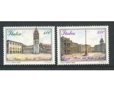 1988 - REPUBBLICA - PIAZZE D'ITALIA 2v. - NUOVI - LOTTO/30276