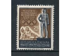 1952 - REPUBBLICA - MOSTRA DEL FRANCOBOLLO SPORTIVO - NUOVO - LOTTO/30334