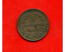 1869 - SAN MARINO - 5 CENTESIMI RAME - LOTTO/M30525