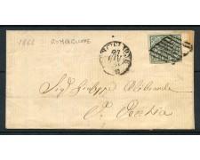 1866 - STATO PONTIFICIO - 2 BAJ  VERDE SU BUSTA DA RONCIGLIONE  - LOTTO/30287