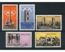 1959 - REPUBBLICA - PREOLIMPICA 5v.- NUOVI - LOTTO/6351