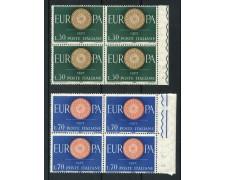 1960 - LOTTO/6362Q - REPUBBLICA - EUROPA 2v. QUARTINA - NUOVI